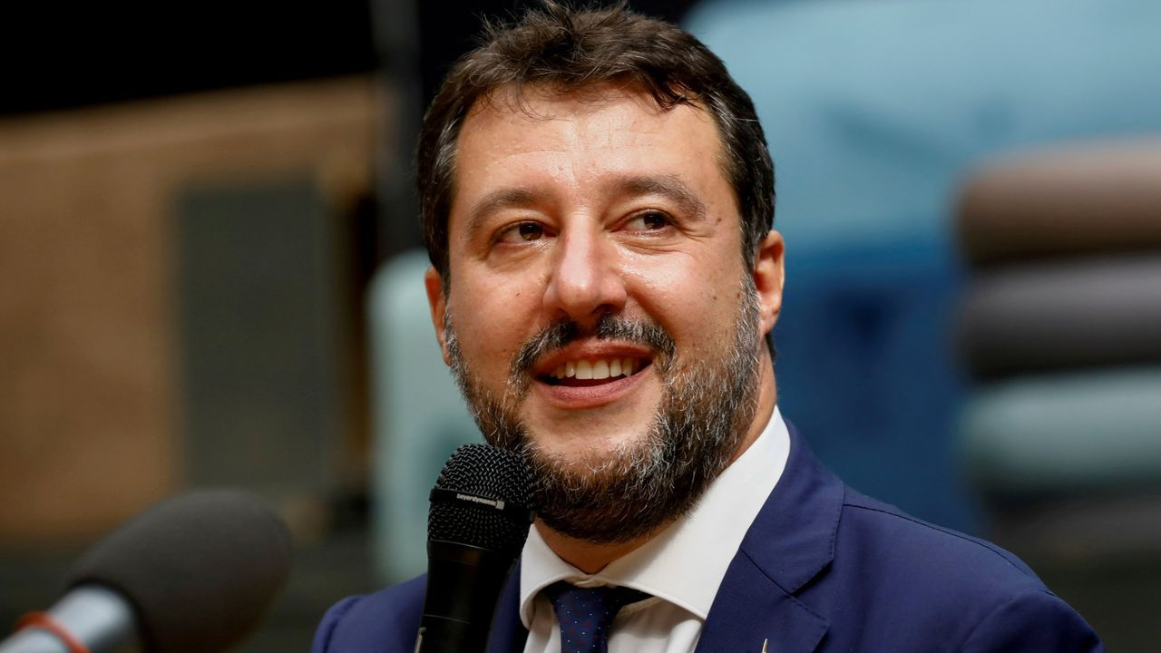 Concentración motera en Gijón.Matteo Salvini, exministro del Interior italiano