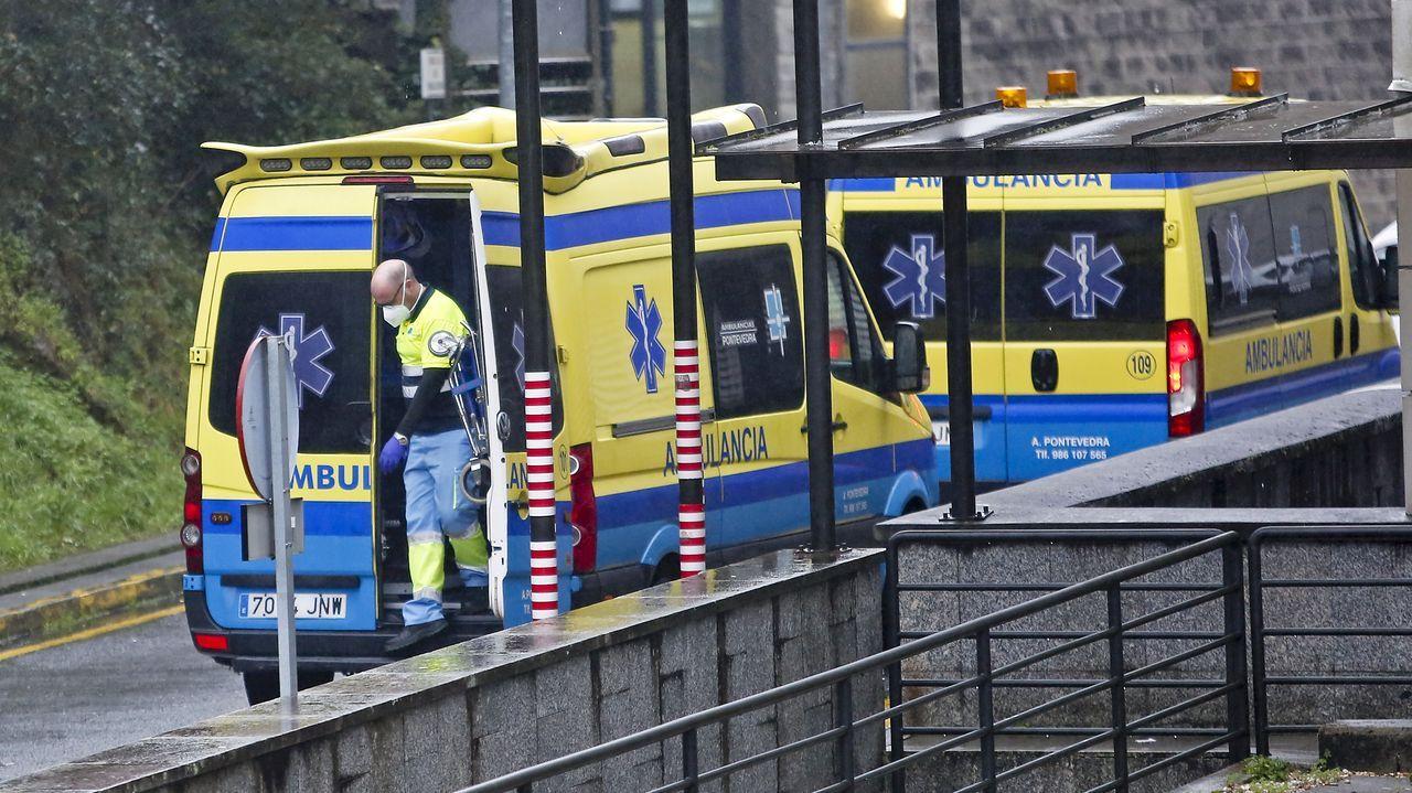 Área de entrada de Urgencias del hospital Montecelo, en Pontevedra