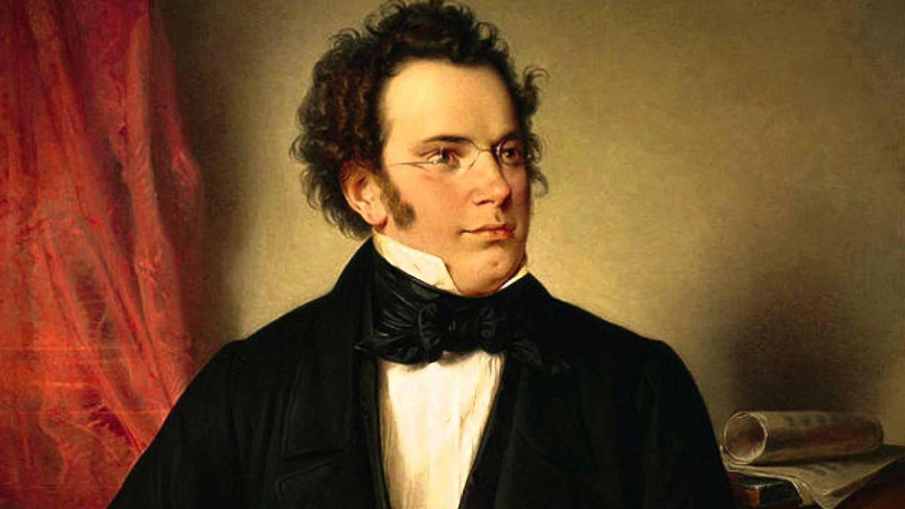 Detalle del retrato de Schubert realizado en 1875 por el pintor Wilhelm August Rieder