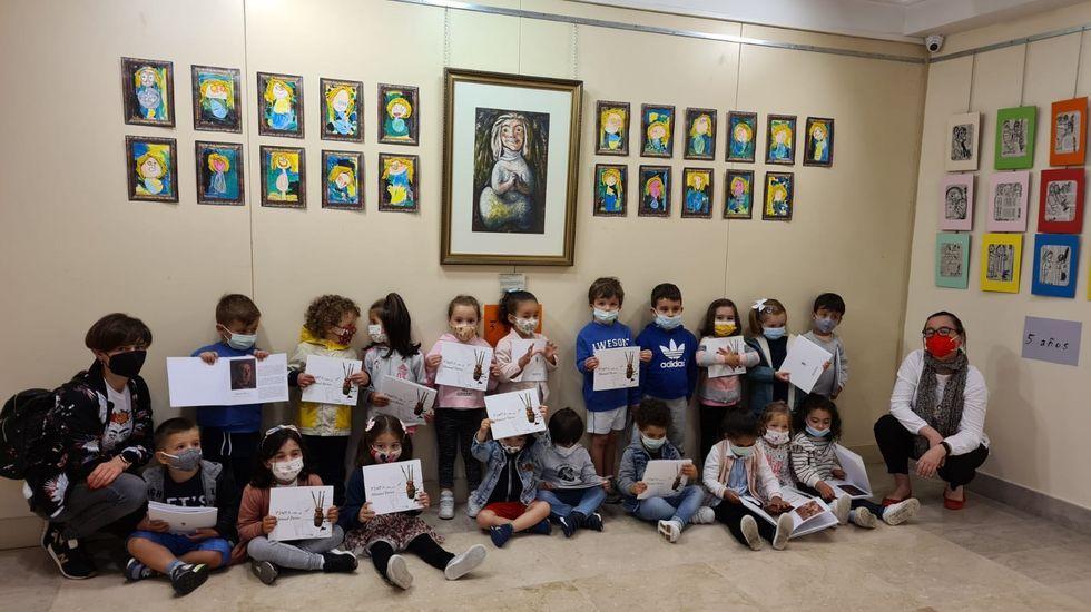 Visita escolar al Museo Manuel Torres, Marín