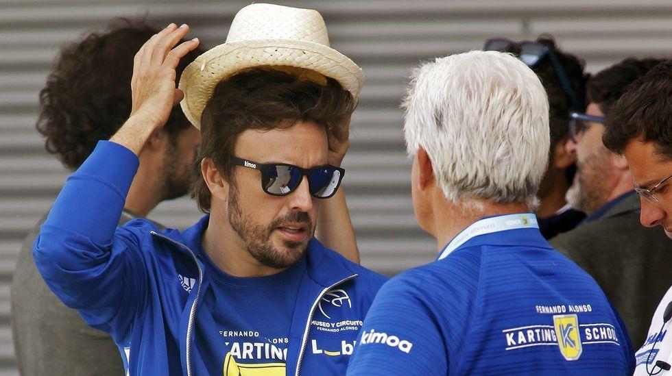 Fernando Alonso.Fernando Alonso y su padre, en Asturias