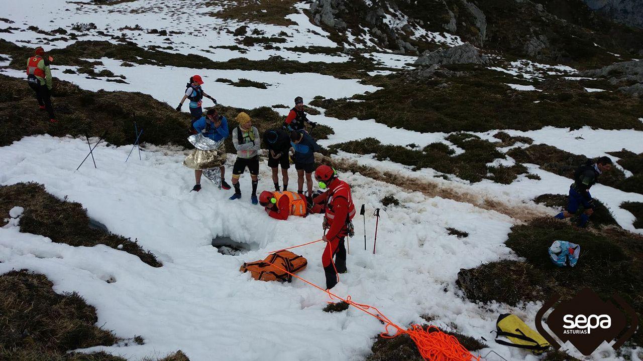 Rescate de montaña en Cabrales.Ramón Juega Cuesta