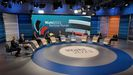 Los candidatos a las elecciones en Alemania participaron en un debate televisado inmediatamente después de los comicios.