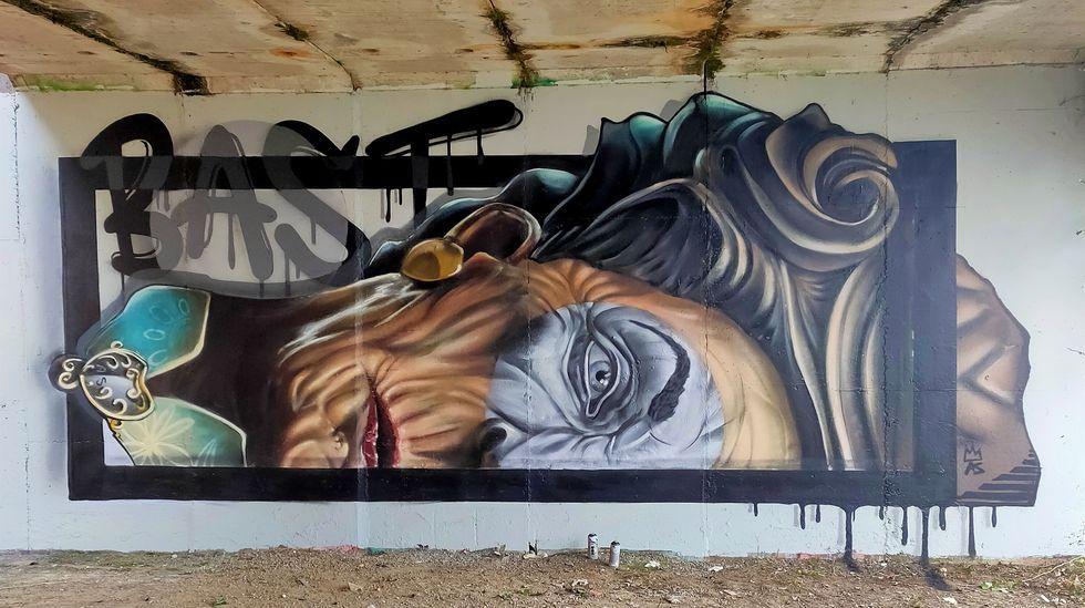 Grafiti con el que Diego As ganó la semifinal del concurso nacional