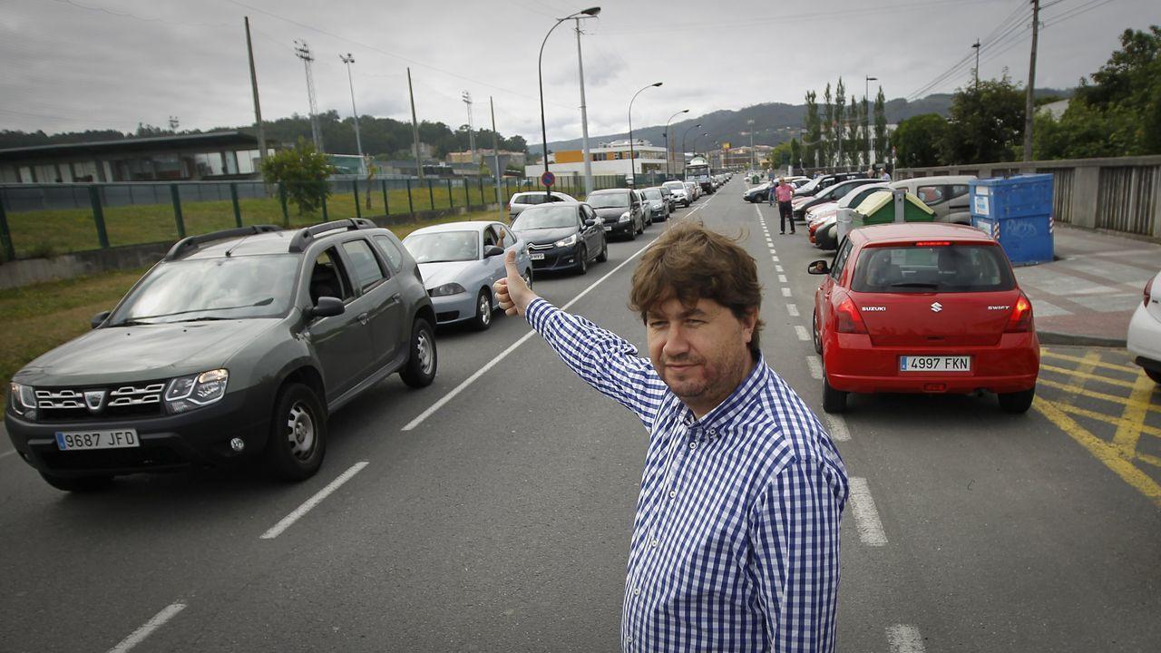 La autovía de Santiago a Lavacolla clama por una reforma.Autovía del Cantábrico a su paso por el occidente