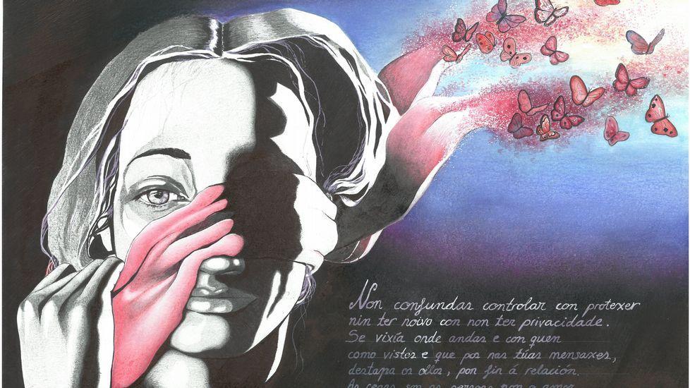 Obra ganadora del concurso contra la violencia de género de la Fundación Barrié