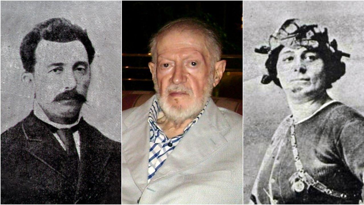 O Xurés, tras las llamas.As figuras de Pascual Veiga, Alexandre Finisterre e Miss Gerland forman parte de «Contrahistorias»