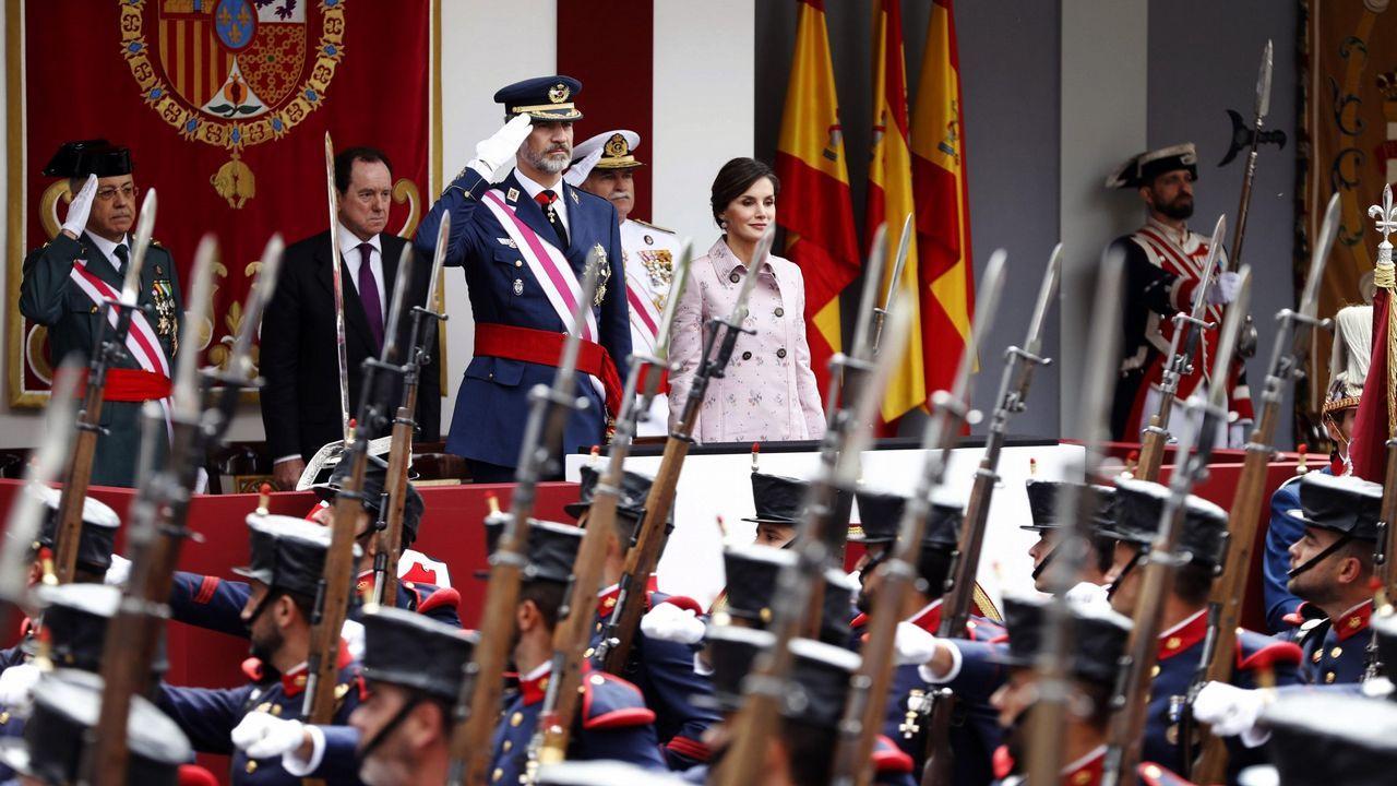 Lety2PH.Los reyes, en el día de las Fuerzas Armadas que se celebró en Logroño el 26 de mayo del 2018