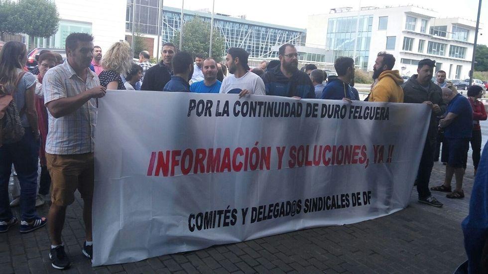 Gijón: el aliado de las ciudades gallegas en el noroeste.Protesta de los trabajadores de Duro Felguera