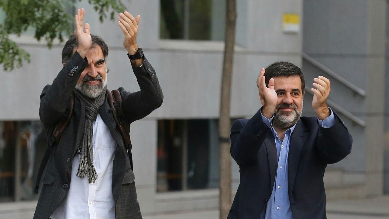 Jordi Cuixart y Jordi Sànchez, en una imagen de archivo
