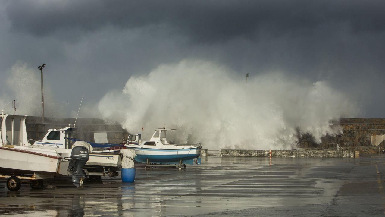 El viento se llevó tejados en Cerceda y tiró árboles en la costa de Carballo y A Laracha