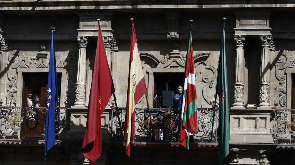 PNV y PSE sellan su acuerdo de Gobierno.Pablo Iglesias