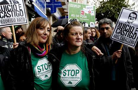 Analía Melón, en una intervención apoyada por la Plataforma de Afectados por la Hipoteca.