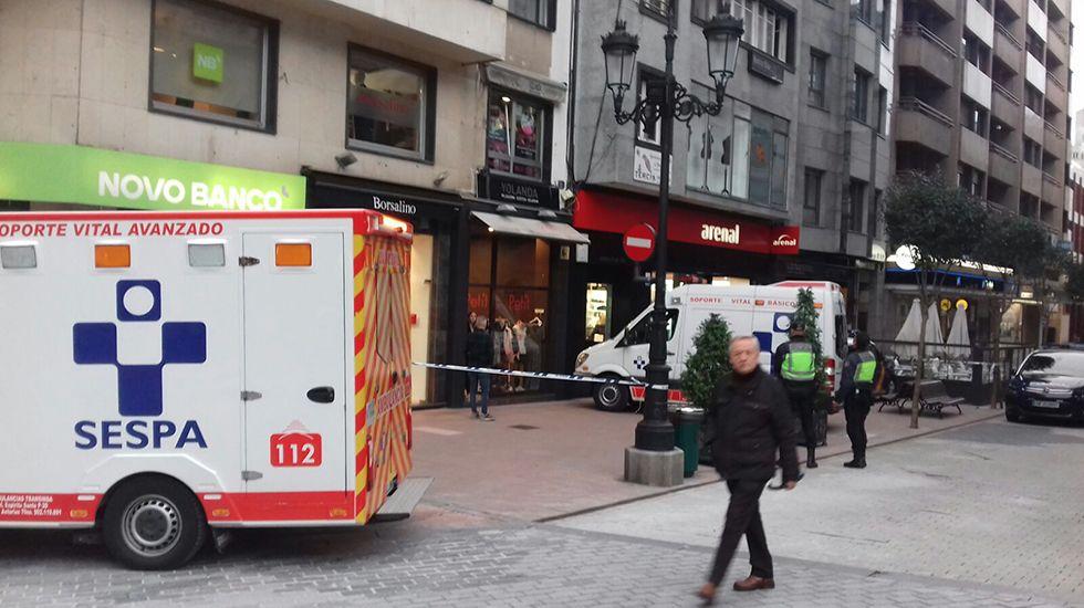 Accidente laboral en la calle 19 de Julio de Oviedo