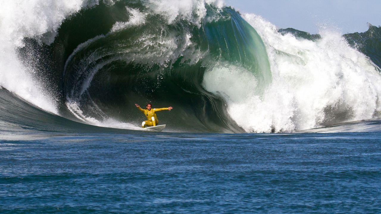 El surf de olas grandes en Galicia.Missy Franklin