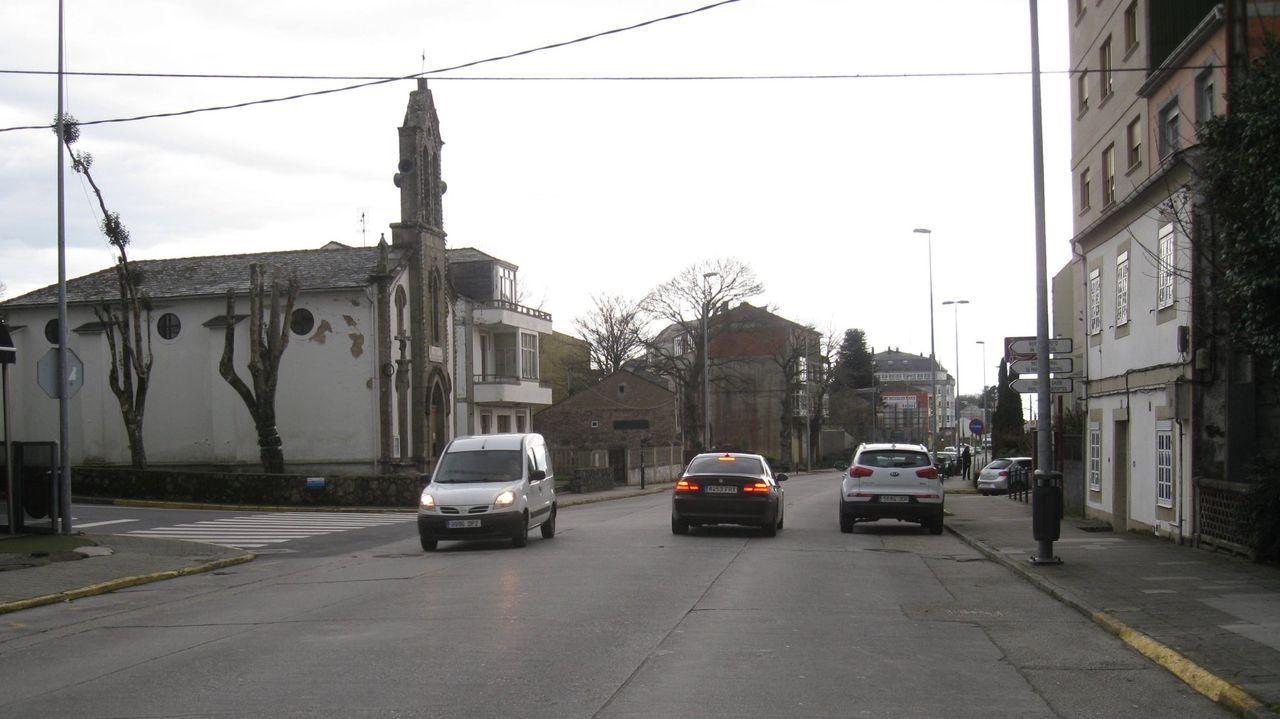 Cribado realizado en la primera quincena de este mes en el pabellón de Guitiriz.Vista del barrio de Guadalupe, con la capilla a la izquierda