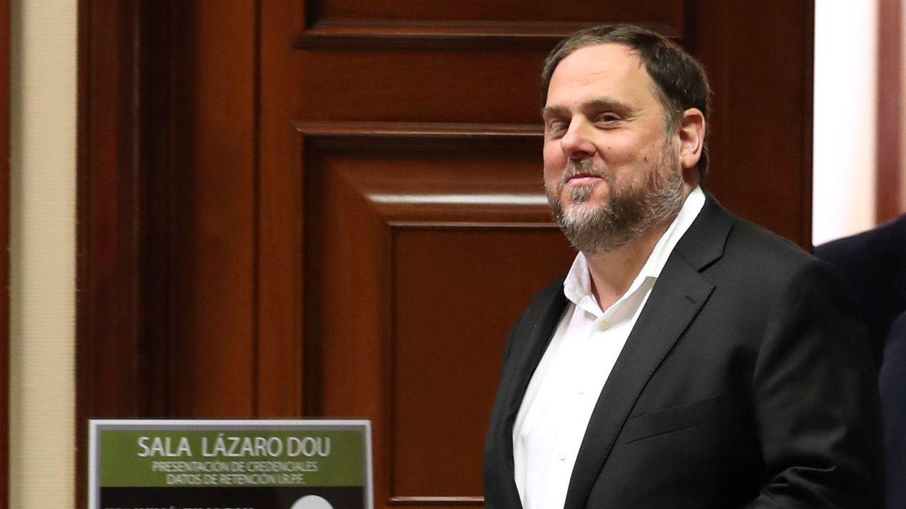 Iceta y Darias juran sus cargos como nuevos ministros.Imagen de archivo del 20 de mayo del 2019 del presidente de ERC, Oriol Junqueras, actualmente en prisión