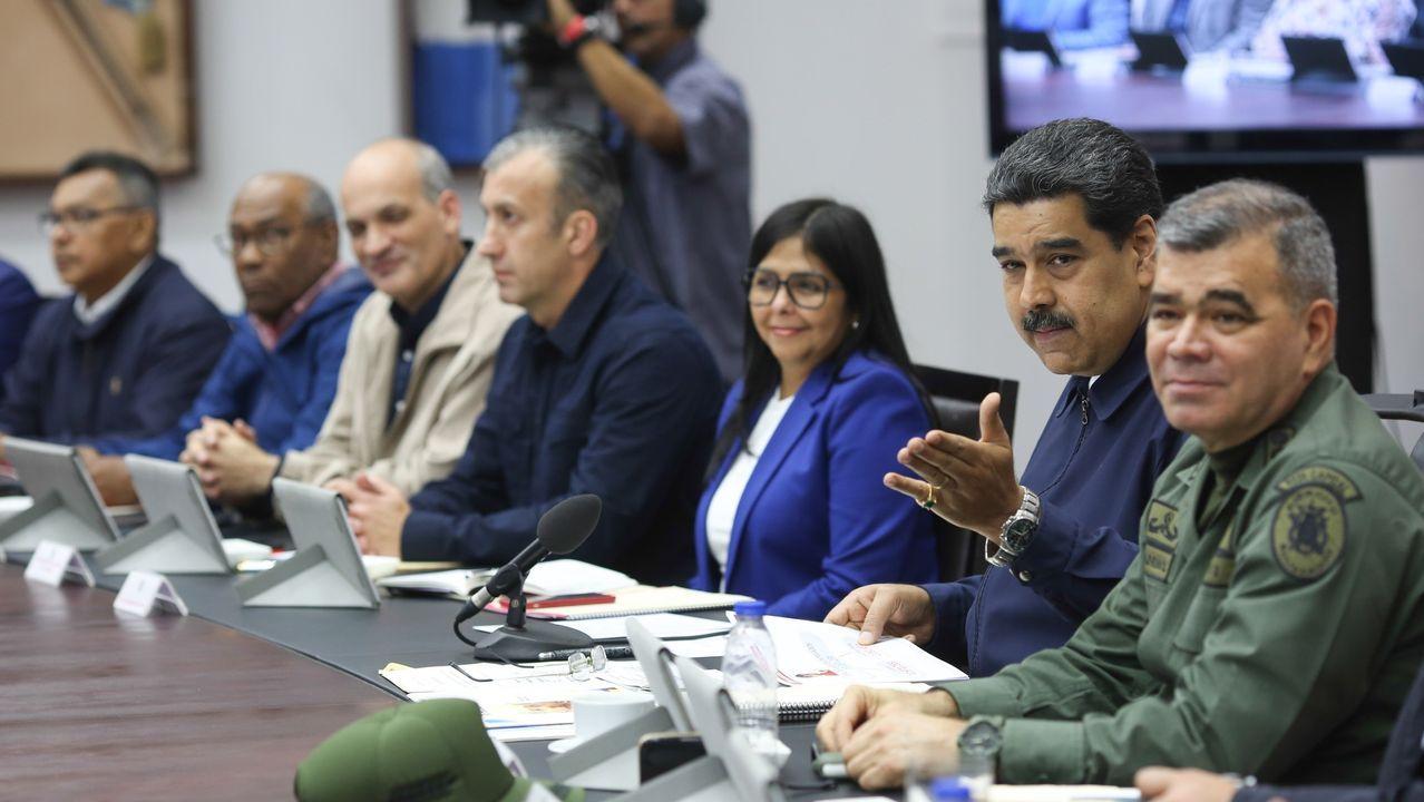 Maduro, en el Consejo de Ministros del  lunes en el palacio presidencial Miraflores