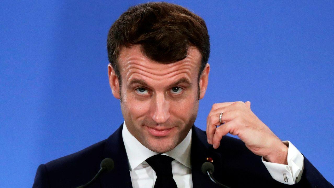 El derribo del viaducto de la ronda de Nelle, 42 años después.El presidente francés, Emmanuel Macron