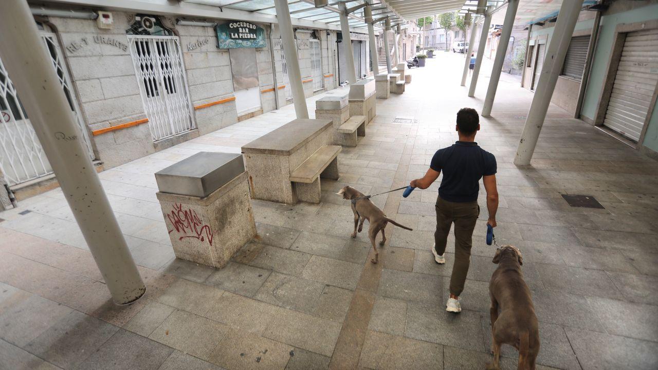 La alternativa verde a la playa triunfa en Vigo.Merchi Pérez vive en Moaña en situación de pobreza energética