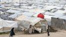 Campo de refugiados en el norte de Alepo