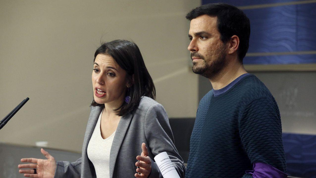 La ministra de Igualdad, Irene Montero, y el ministro de Consumo, Alberto Garzón en el 2017