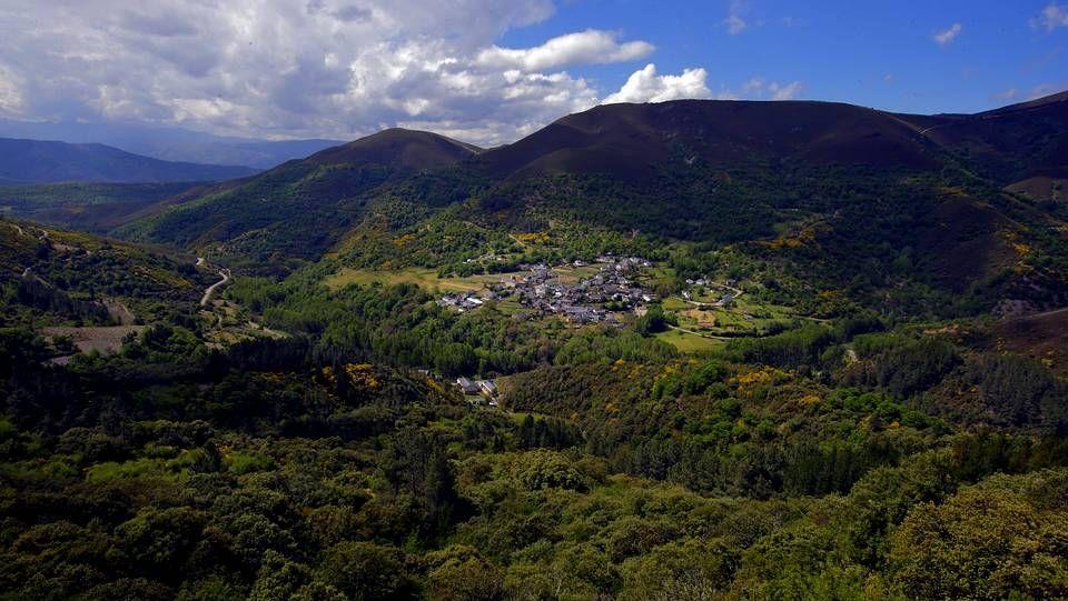 Parque natural Serra da Enciña da Lastra en Rubiá, comarca de Valdeorras