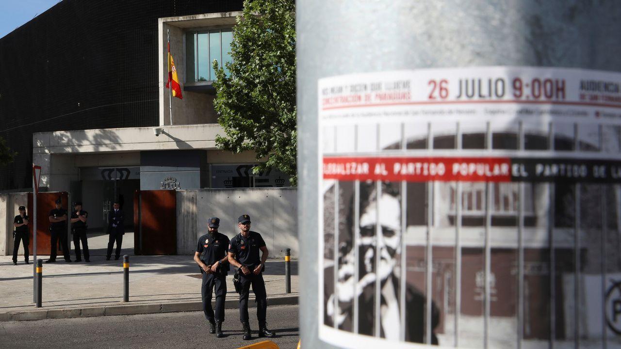 Rajoy entró en la Audiencia Nacional directamente al garaje en su coche.