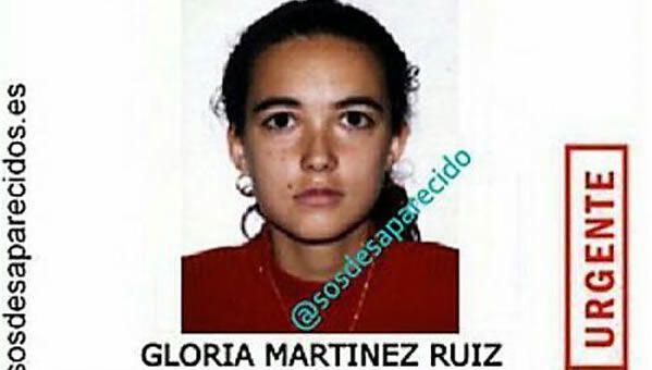 Gloria Martínez en una de las imágenes que se difundieron tras su desaparición