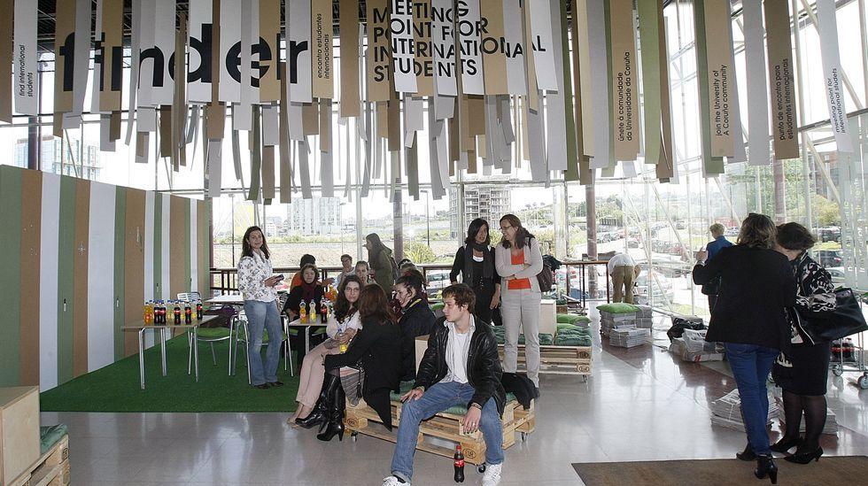 Punto de encuentro para estudiantes internacionales en la UDC
