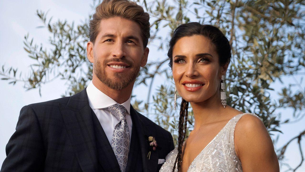 Boda de época para Sergio Ramos y Pilar Rubio.Alejandro Sanz y Raquel Perera, en una imagen de archivo