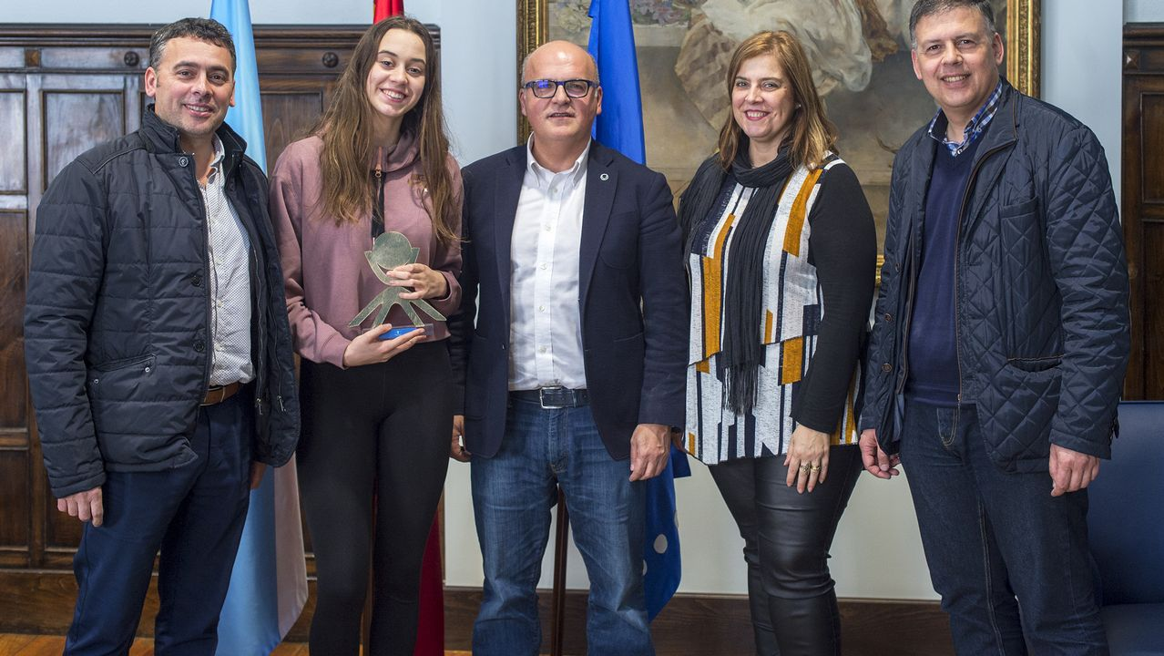 María Vilas entrega las becas Juan Lampón en su 14 edición