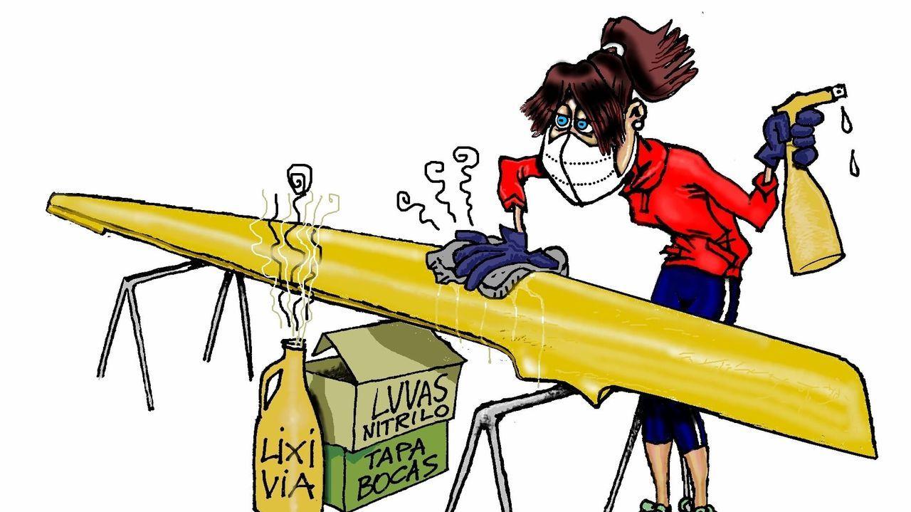 Los palistas deben desinfectar el material antes y después de usarlo