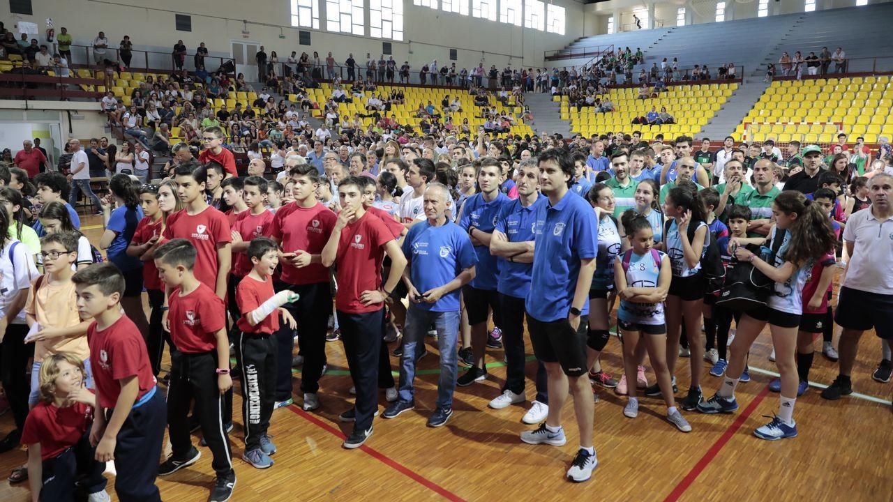 Jugadores de División de Honor del bádminton Oviedo. archivo