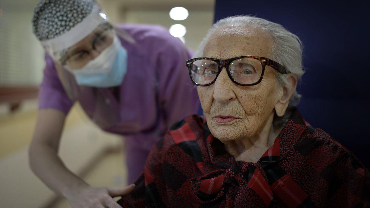 Puificación Ramos superó el covid con 107 años