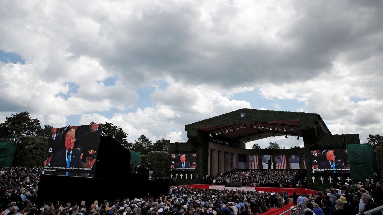 Macron ha recordado durante su discurso que «EE.UU. nunca es más grande que cuando pelea por la libertad de otros»