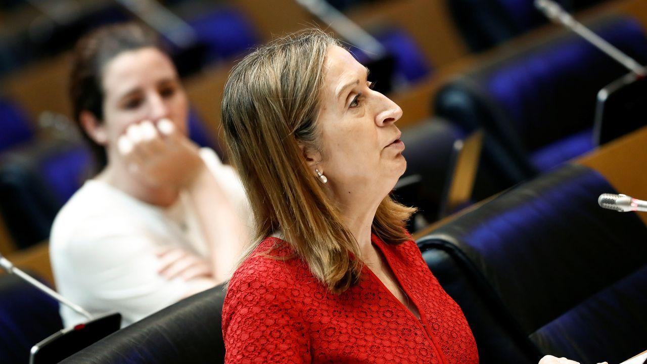 En directo, rueda de prensa posterior al Consejo de Ministros.Ana Peleteiro, Xosé Manuel Piñeiro y Fito Domínguez, ya fallecido fundador de A Roda