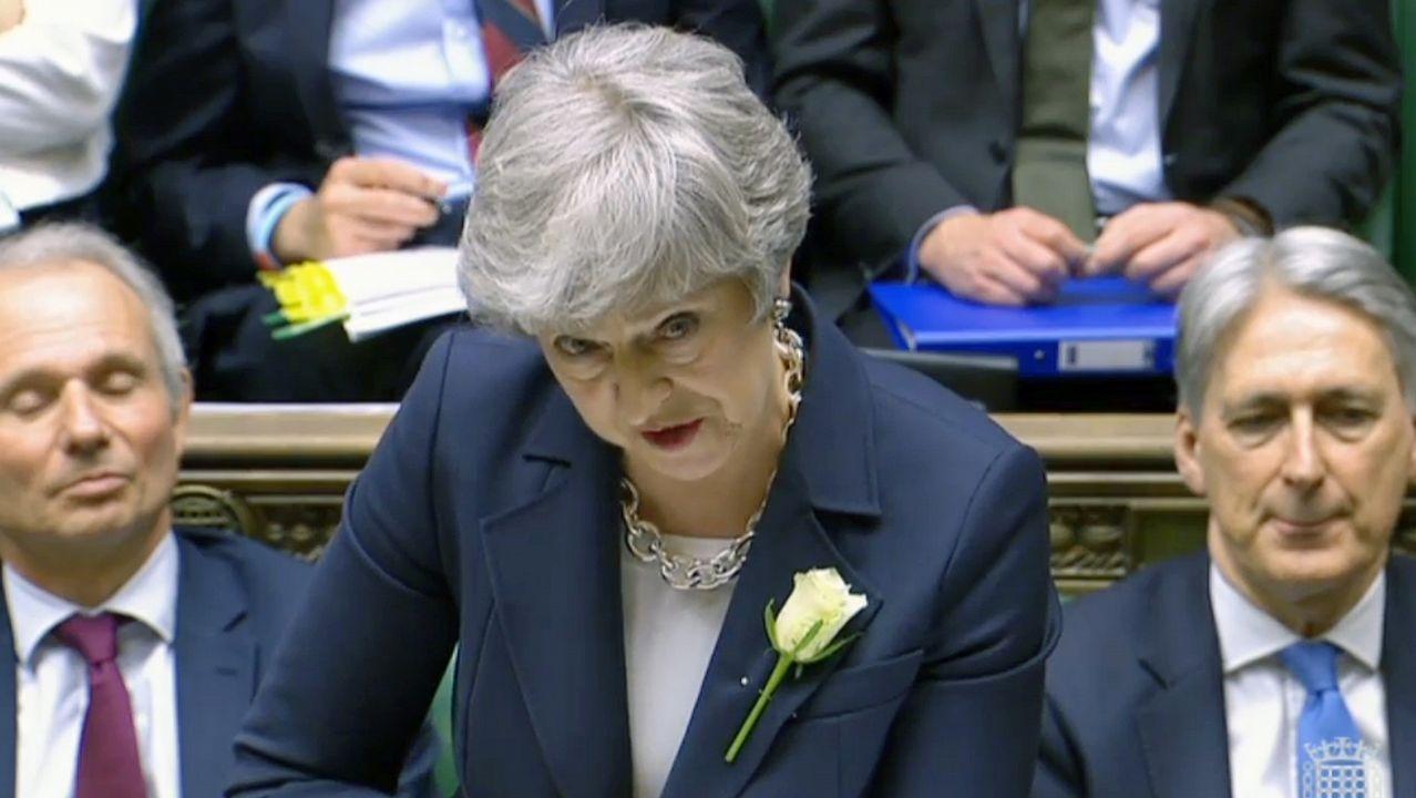 Theresa May, durante la sesión del miércoles en Westminister
