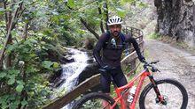 David Villa, en el Parque Natural de Redes, en una de sus fotografías de Instagram