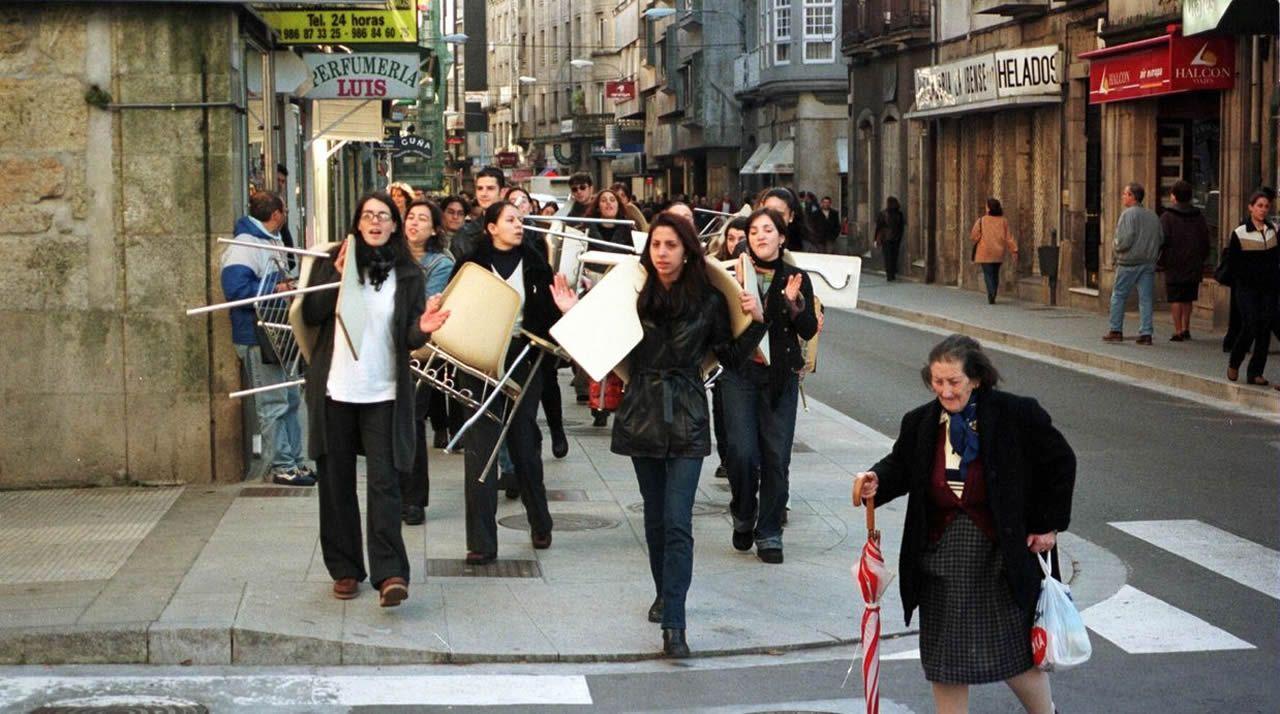 Así fue la «revolución» estudiantil para conseguir la nueva facultad de Ciencias Sociais en Pontevedra.Manuel Otero Blanco