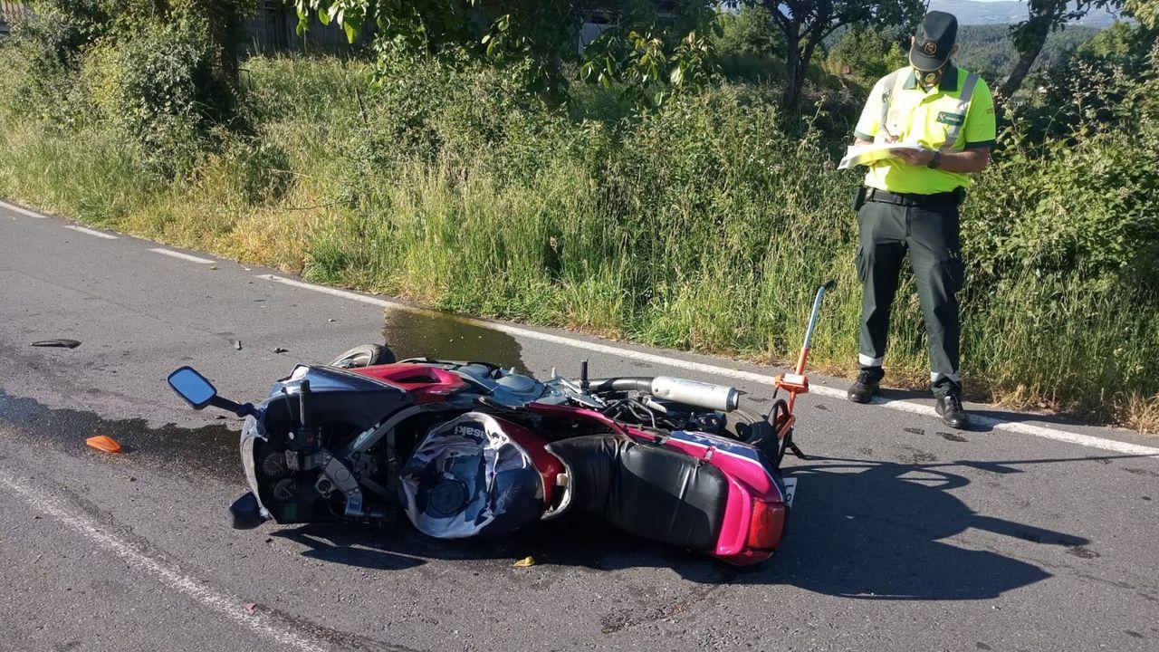El pasado 8 de junio el piloto de una motocicleta falleció en Vilar de Barrio
