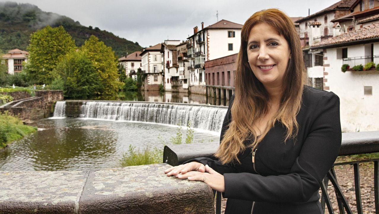 pazos.Lucía Galán participó en un acto en A Coruña
