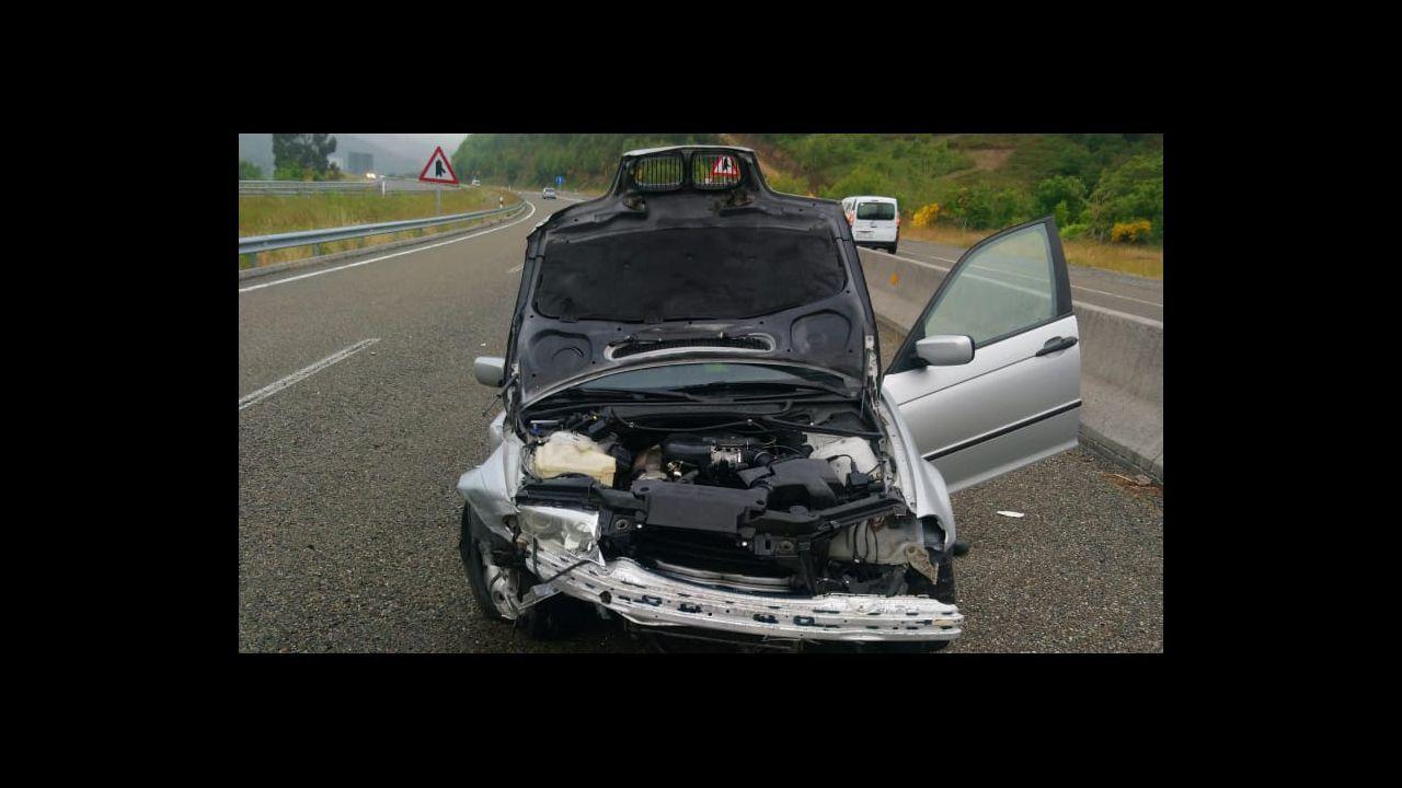 Accidentegraveen la carretera LU-540 a su paso por Muras