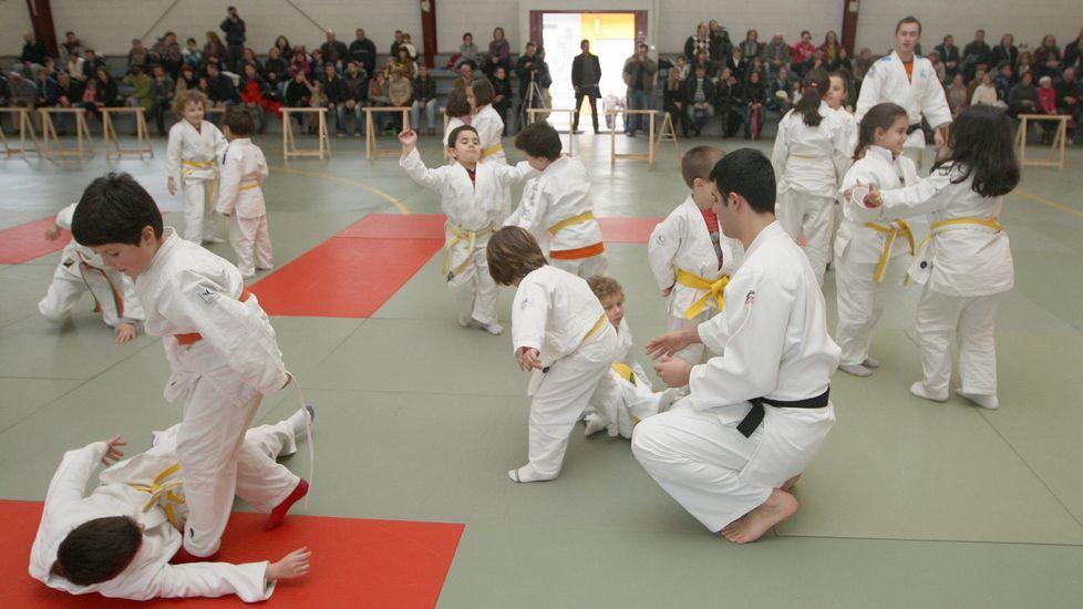 La liga de yudo de Ferrolterra se disputa en el colegio de las Mercedarias