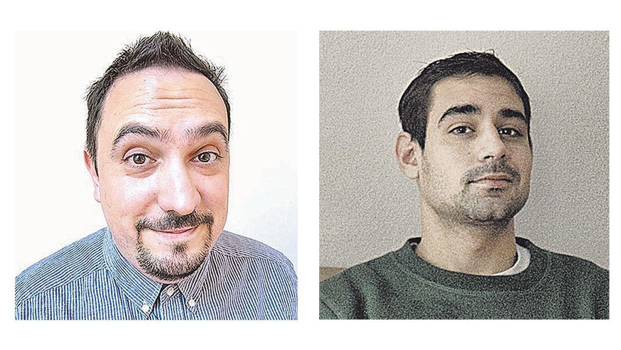 Xaquín Gonzalez (izquierda) y Denís Galocha.