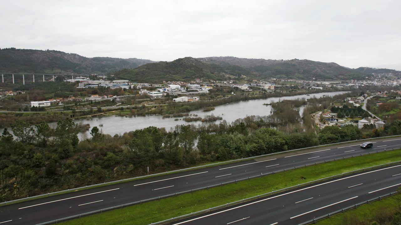 El puente de Os Peares, uno de los de la línea férrea entre Monforte y Ourense