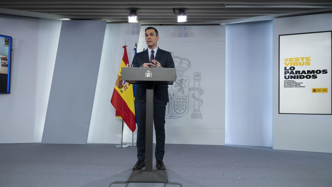 Pedro Sánchez, en el Congreso el 22 de abril, expone los motivos por los que solicita una nueva prórroga del estado de alarma