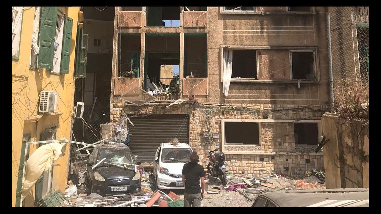 Los enfrentamientos entre la policía y los manifestantes en Beirut