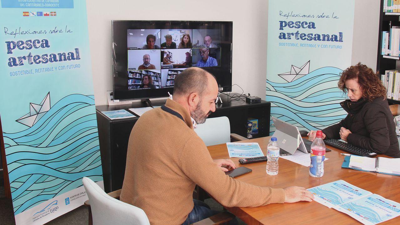 Basilio Otero y Carmen Abad, en la sesión telemática de este 30 de octubre, que continuará el día 11, cuando las cofradías le transmitirán propuestas a las autoridades autonómicas y nacionales