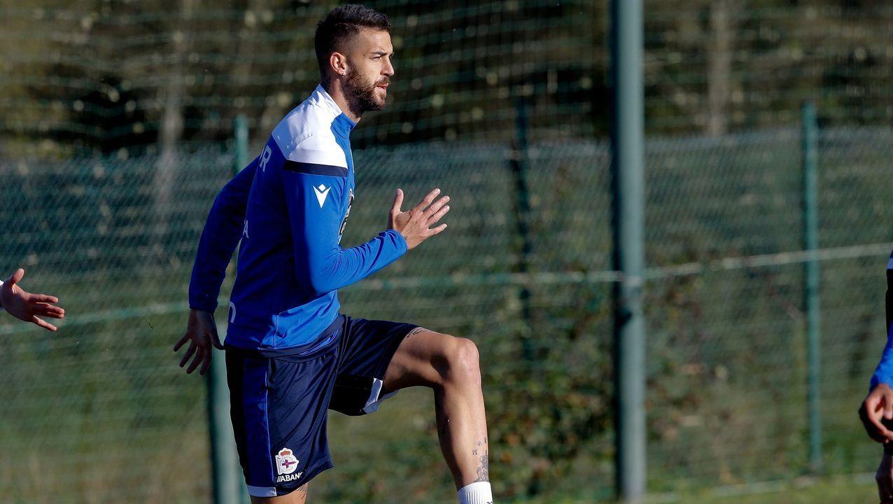 Borja Granero, en un entrenamiento